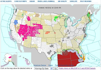 Us Map Weather Morandesignco - Us weather alerts map