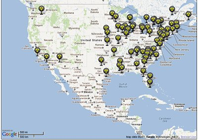 Physicians For Social Responsibility Create Maps Of Nuclear - Us nuclear plant meltdown map