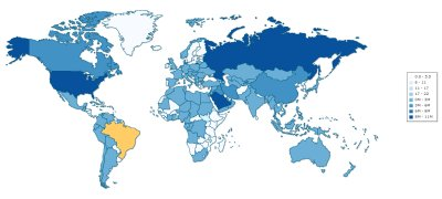 Interactive Energy Maps of the World, Continents and Countries