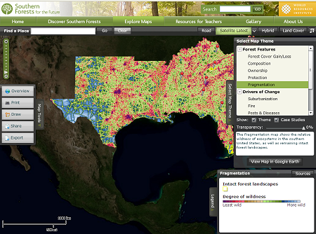 southern forests maps data