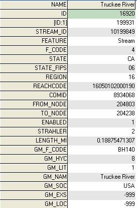 U S  Streams Shapefile based on latest USGS data