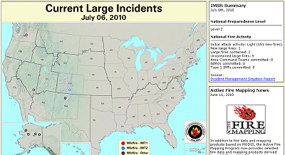 US Forest Service Active Fire Mapping Program - Us active fire map