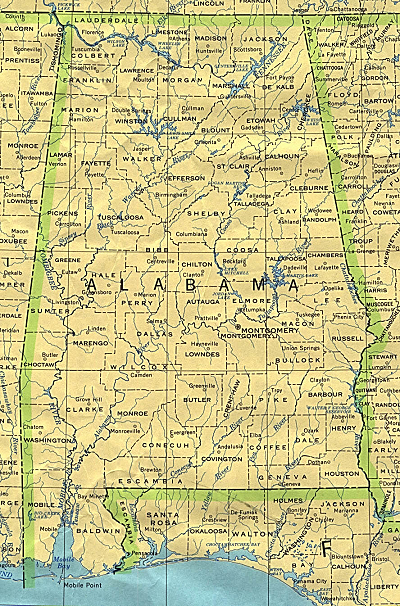 Alabama reference map download