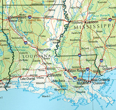 Louisiana reference map download