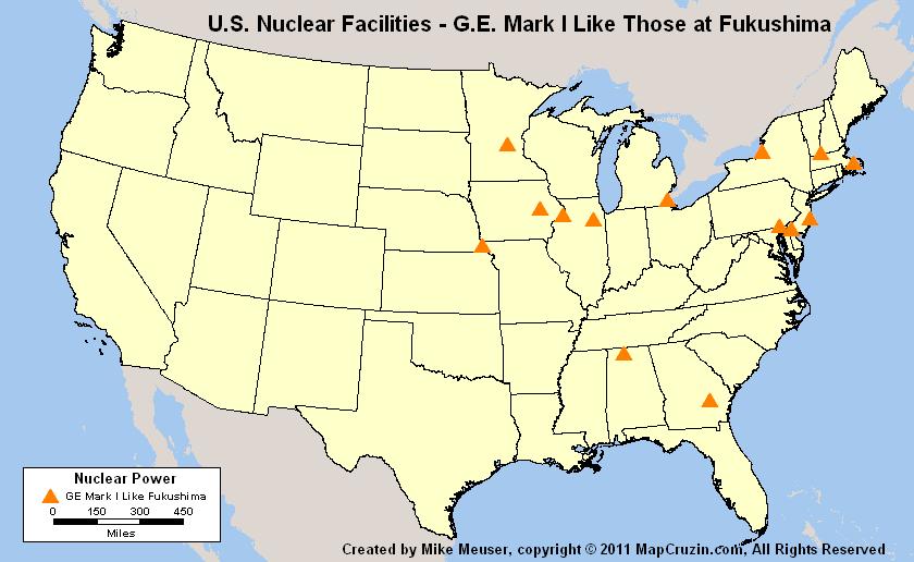 U.S. Nuclear Reactor Power Plant Tornado History Like Fukushima ...