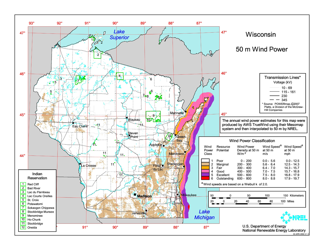 Download free wisconsin wind energy maps you can view a larger version or download gumiabroncs Image collections