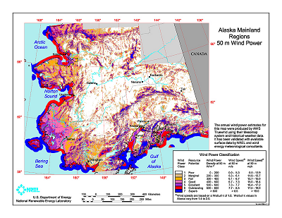 Download Free Alaska Wind Energy Maps